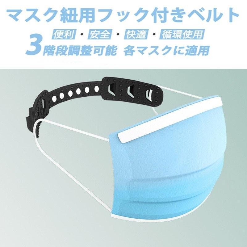 ヘッドベルト 耳掛け 耳プロテクター マスク補助紐 医療 福祉 耳痛い解消 痛くない マスクひも フックベルト 耳 痛くない クリア3個セット|travelplus-jp