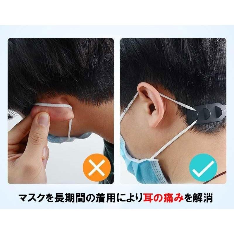 ヘッドベルト 耳掛け 耳プロテクター マスク補助紐 医療 福祉 耳痛い解消 痛くない マスクひも フックベルト 耳 痛くない クリア3個セット|travelplus-jp|04