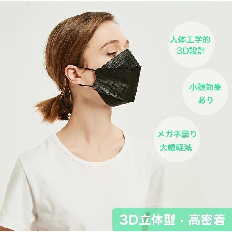 マスク 不織布 マスク KF94 30枚セット 個包装 3D 立体構造 4層構造 使い捨てマスク 柳葉型 口紅つきにくい メガネ曇り軽減 レディース 小顔効果 男女兼用|travelplus-jp|02