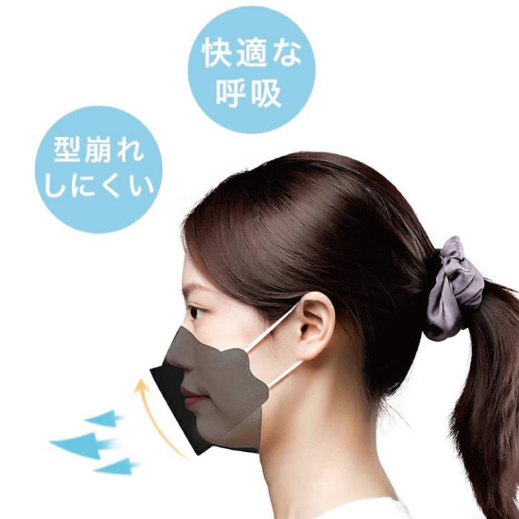 マスク 不織布 マスク KF94 30枚セット 個包装 3D 立体構造 4層構造 使い捨てマスク 柳葉型 口紅つきにくい メガネ曇り軽減 レディース 小顔効果 男女兼用|travelplus-jp|05