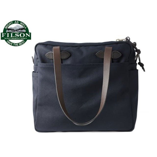 FILSON(フィルソン)/#70261 TOTE WITH ZIPPER(ジッパー付きトートバッグ)/navy