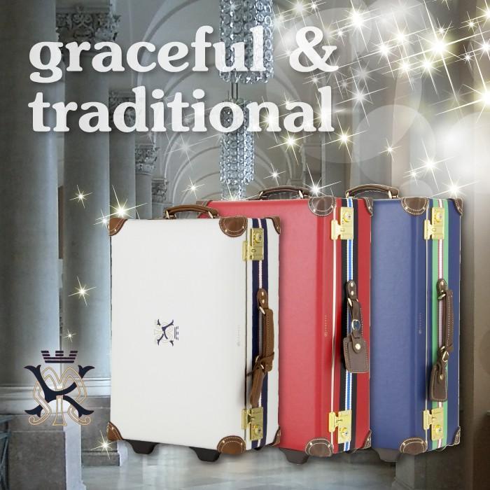 アウトレット トランクケース アンティーク おしゃれ かわいい レトロ 中型 Mサイズ キャリーケース スーツケース B-AE-11422