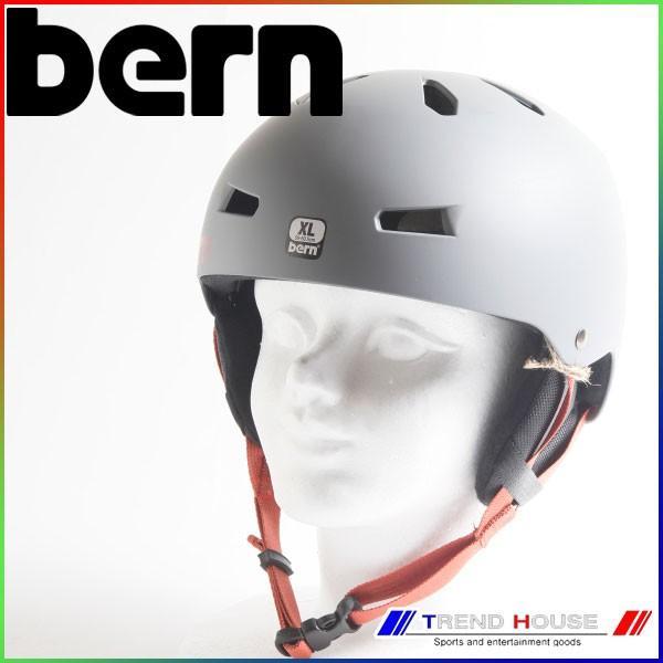 バーン メイコン Macon EPS Matte グレー/黒 Strap-In Ear Pads XXL(60.5-62cm) bern メンズ ヘルメット