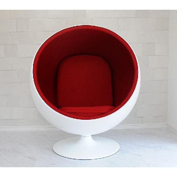 ボールチェア エーロ・アールニオ ホワイト×レッド ballchair ソファ ソファ ソファー sofa
