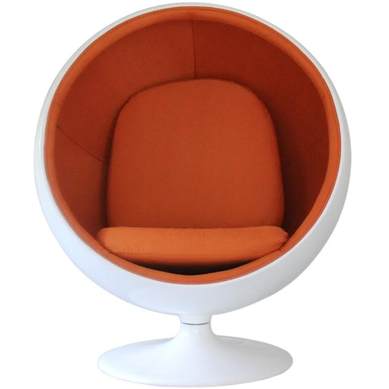 ボールチェア エーロ・アールニオ ホワイト×オレンジ ホワイト×オレンジ ballchair ソファ ソファー sofa