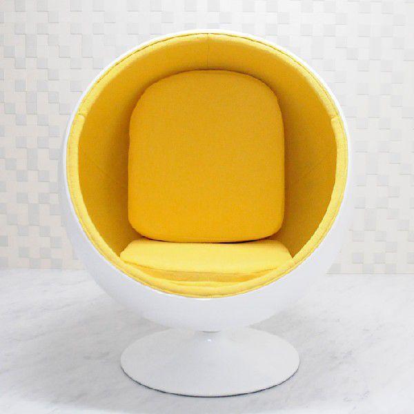 ボールチェア エーロ・アールニオ エーロ・アールニオ ホワイト×イエロー ballchair ソファ ソファー sofa