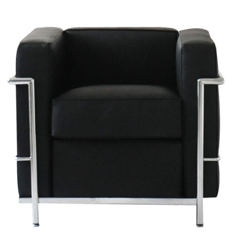 ル・コルビジェ LC2 1P ブラック 総本革 イタリアンレザー仕様 ソファ ソファー sofa sofa 1人用