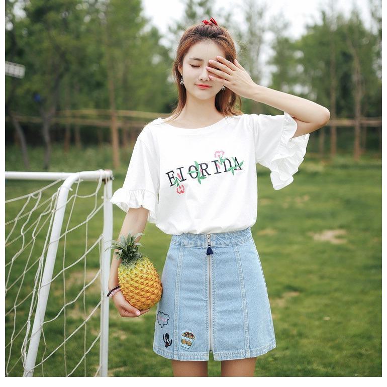 Tシャツ レディース 丸ネック 五分袖 to1-192|treasure-house2
