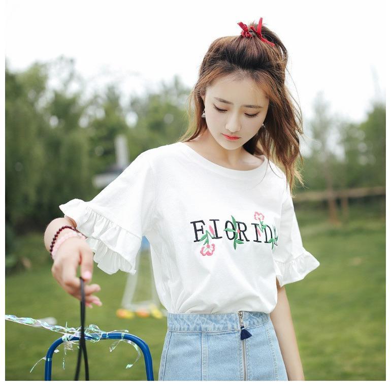 Tシャツ レディース 丸ネック 五分袖 to1-192|treasure-house2|07