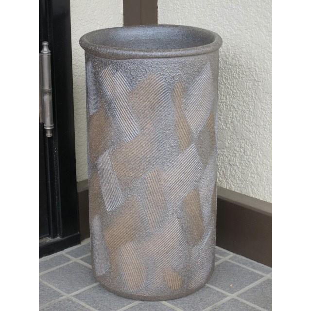 傘立て 傘立て 傘立て 銅いぶし櫛目 傘立て 陶器 しがらき 送料無料(北海道・沖縄除外) c8f