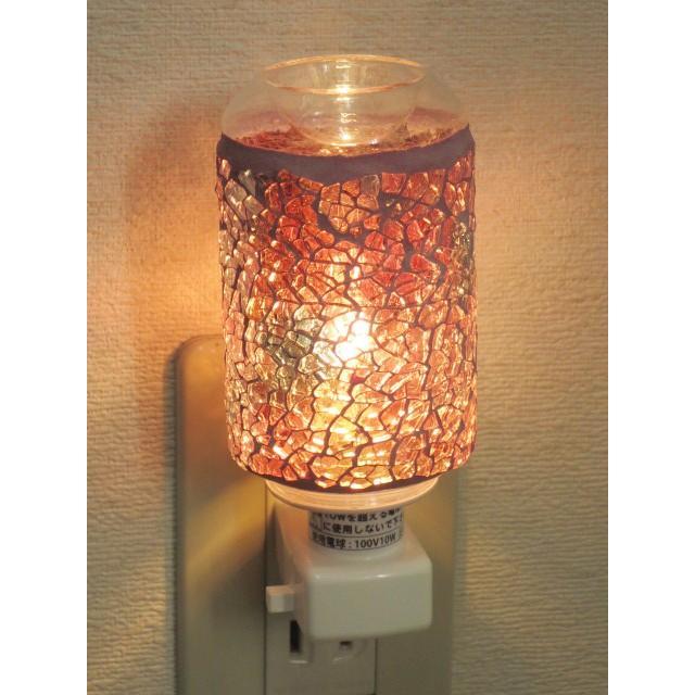 照明 ランプ モザイクアロマライト コンセント型 ピンクアロマランプ おしゃれ モザイク trefle