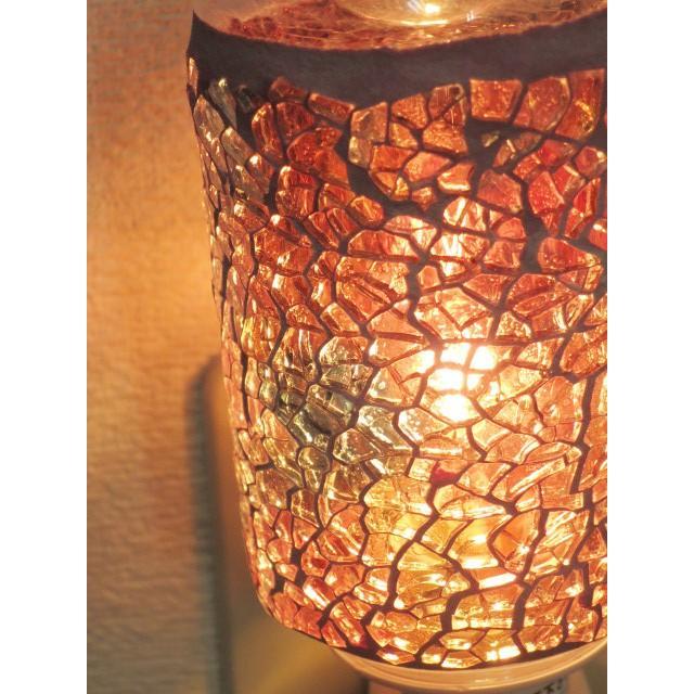 照明 ランプ モザイクアロマライト コンセント型 ピンクアロマランプ おしゃれ モザイク trefle 02
