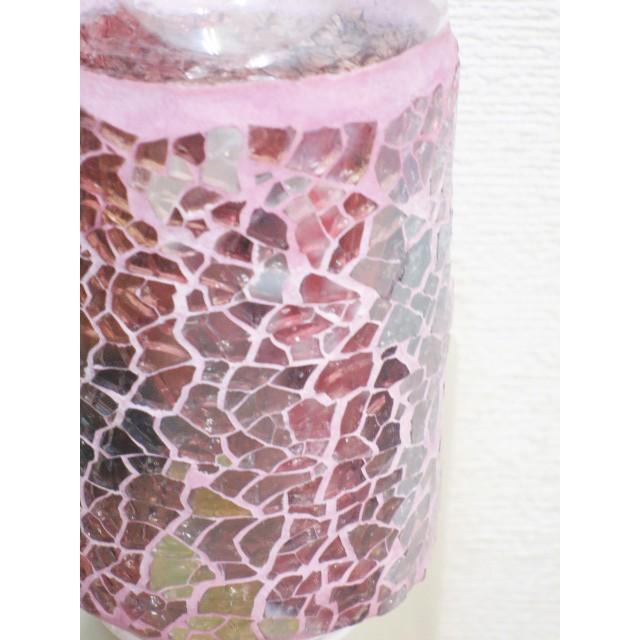照明 ランプ モザイクアロマライト コンセント型 ピンクアロマランプ おしゃれ モザイク trefle 05