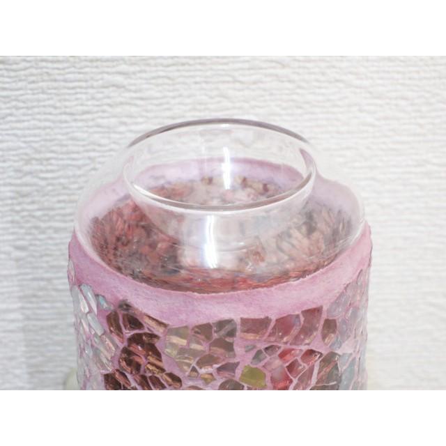 照明 ランプ モザイクアロマライト コンセント型 ピンクアロマランプ おしゃれ モザイク trefle 07