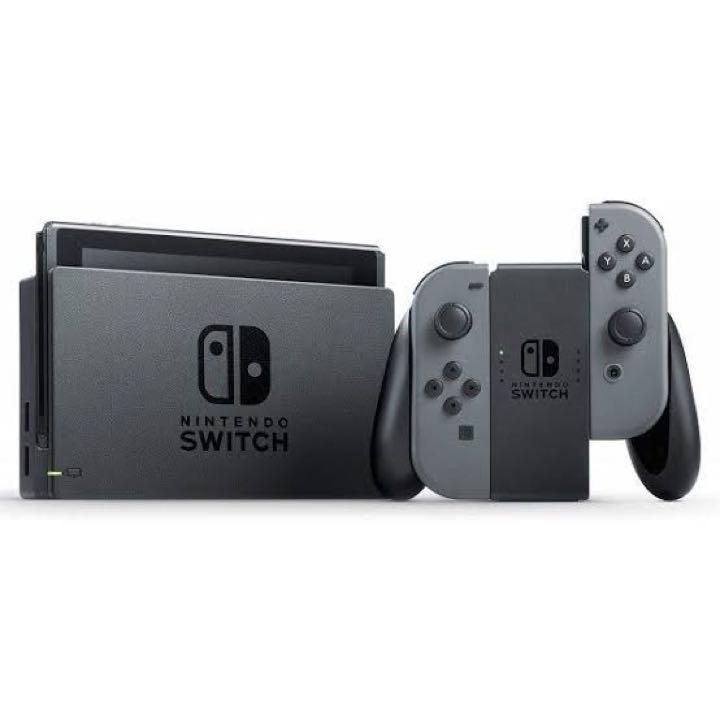 Nintendo Switch Joy-Con (L) / (R) グレー(箱・説明書・ストラップなし:わけあり)(5096001CW)