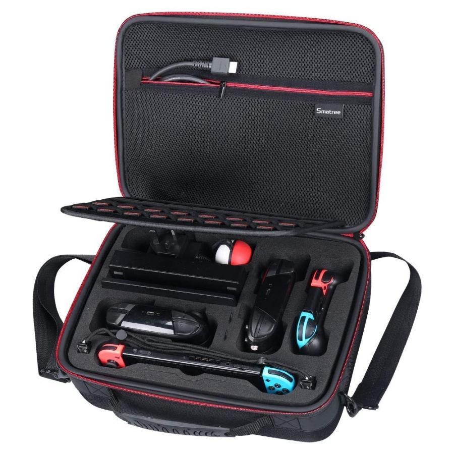 Smatree N600 ニンテンドースイッチ収納ケース 大容量収納バッグ
