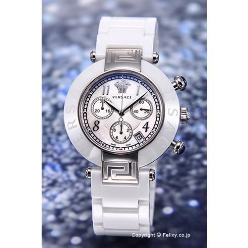 保障できる ヴェルサーチ 腕時計 Reve セラミック クロノグラフ ホワイト×シルバー 95CCS1D497SC01, e-desho 669a8e53