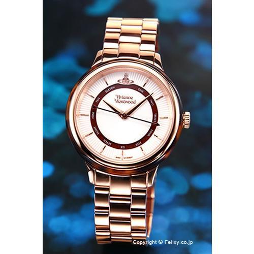芸能人愛用 ヴィヴィアン ウエストウッド Vivienne Westwood 腕時計 Portobello (ポルトベッロ) シルバー×ローズゴールド レディース VV158RSRS, fioo c70cdc86