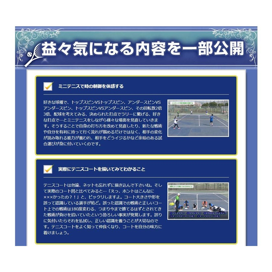 時とリスクを制御して勝つテニスDVD 結果が出せる考え方とその実践ドリル trendaqua 04