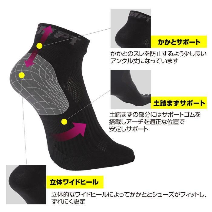 EMPT 5本指 ランニングソックス 靴下 メンズ 黒 ブラック ランニングソックス スポーツソックス 五本指ソックス 5本指靴下 ランニングウェア おすすめ マラソン|trendst|04