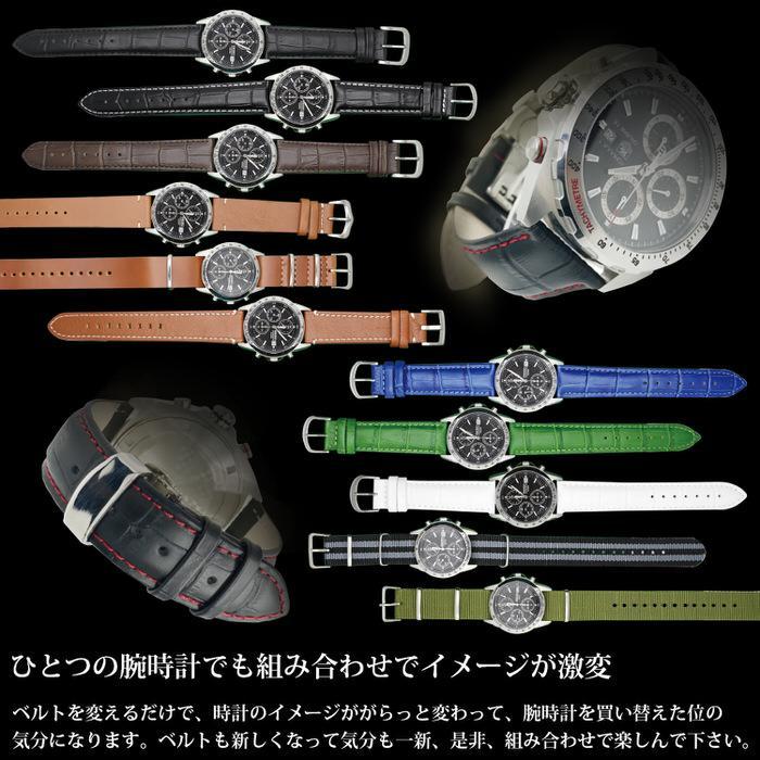 時計ベルト ラバ− シリコン 黒 ブラック 革 レザー 20mm 22mm 24mm 腕時計ベルト 替え 時計 腕時計 バンド ベルト 男性 かっこいい シンプル カジュアル 紳士|trendst|21