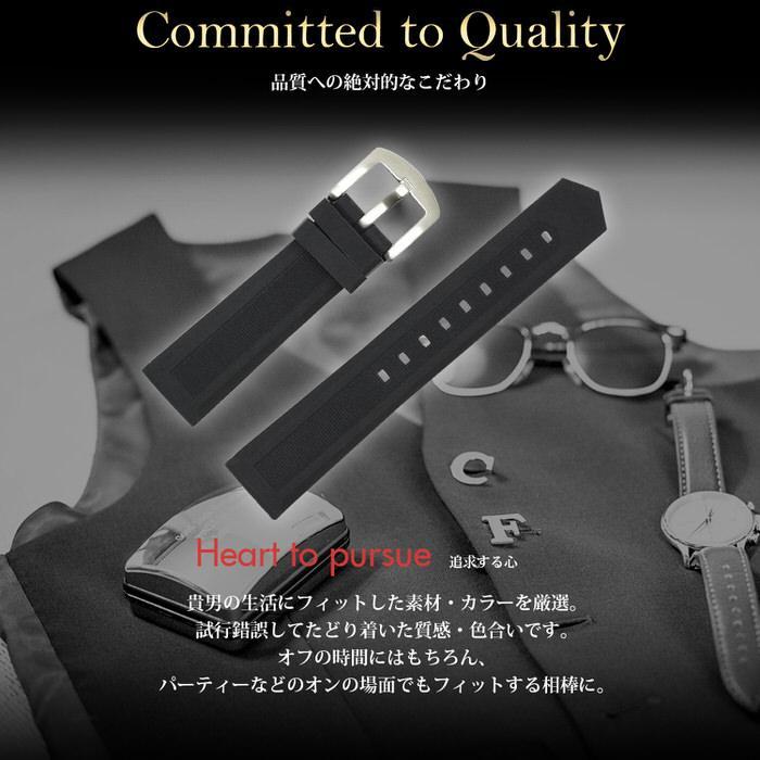 時計ベルト ラバ− シリコン 黒 ブラック 革 レザー 20mm 22mm 24mm 腕時計ベルト 替え 時計 腕時計 バンド ベルト 男性 かっこいい シンプル カジュアル 紳士|trendst|05