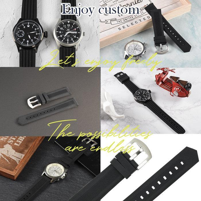 時計ベルト ラバ− シリコン 黒 ブラック 革 レザー 20mm 22mm 24mm 腕時計ベルト 替え 時計 腕時計 バンド ベルト 男性 かっこいい シンプル カジュアル 紳士|trendst|09