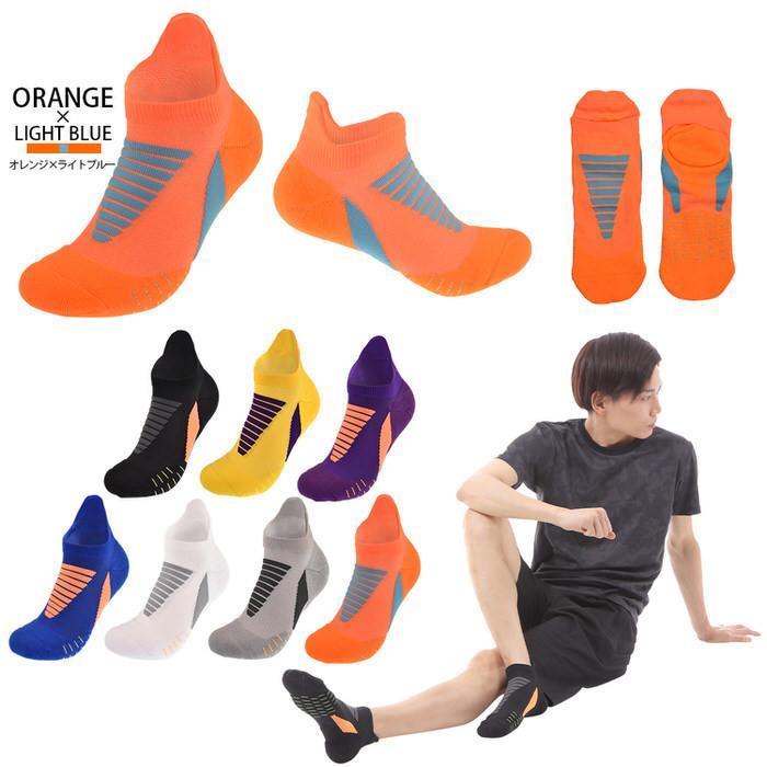 スポーツソックスメンズ 靴下 ソックス メンズ フリーサイズ ワンポイント マラソン ランニング ジョギング シンプル かっこいい 普段使い|trendst|13
