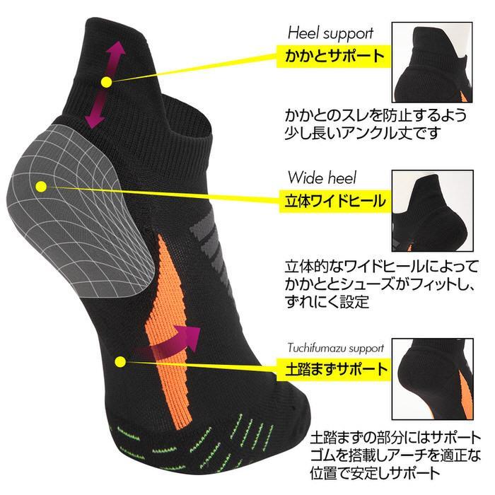 スポーツソックスメンズ 靴下 ソックス メンズ フリーサイズ ワンポイント マラソン ランニング ジョギング シンプル かっこいい 普段使い|trendst|04