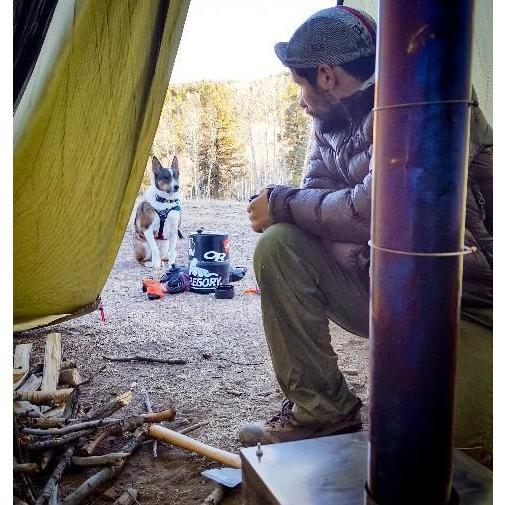 薪ストーブ ポータブルチタンストーブ Mサイズ2021新モデル サイドプレート付き Portable Titanium Wood Stove Seek Outside trente-trois 12