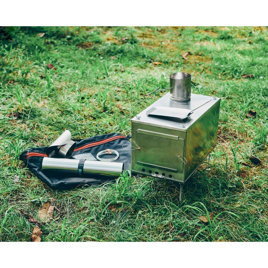 薪ストーブ ポータブルチタンストーブ Lサイズ サイドプレート付き Portable Titanium Wood Stove Seek Outside trente-trois 04