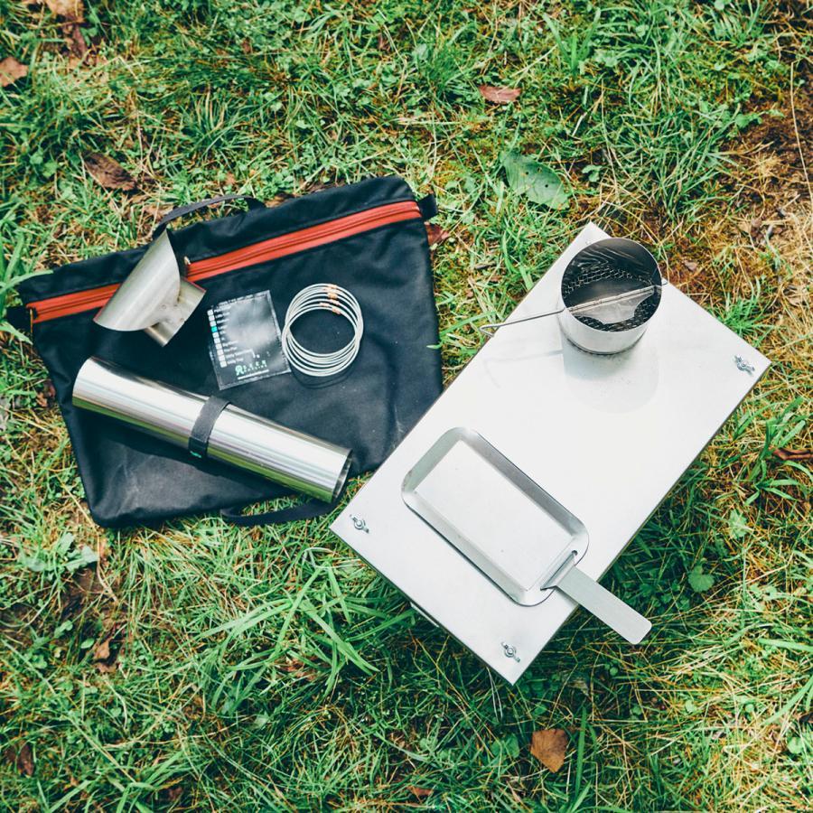 薪ストーブ ポータブルチタンストーブ Lサイズ サイドプレート付き Portable Titanium Wood Stove Seek Outside trente-trois 05