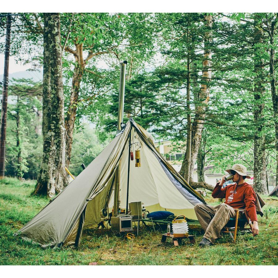 薪ストーブ ポータブルチタンストーブ Lサイズ サイドプレート付き Portable Titanium Wood Stove Seek Outside trente-trois 06