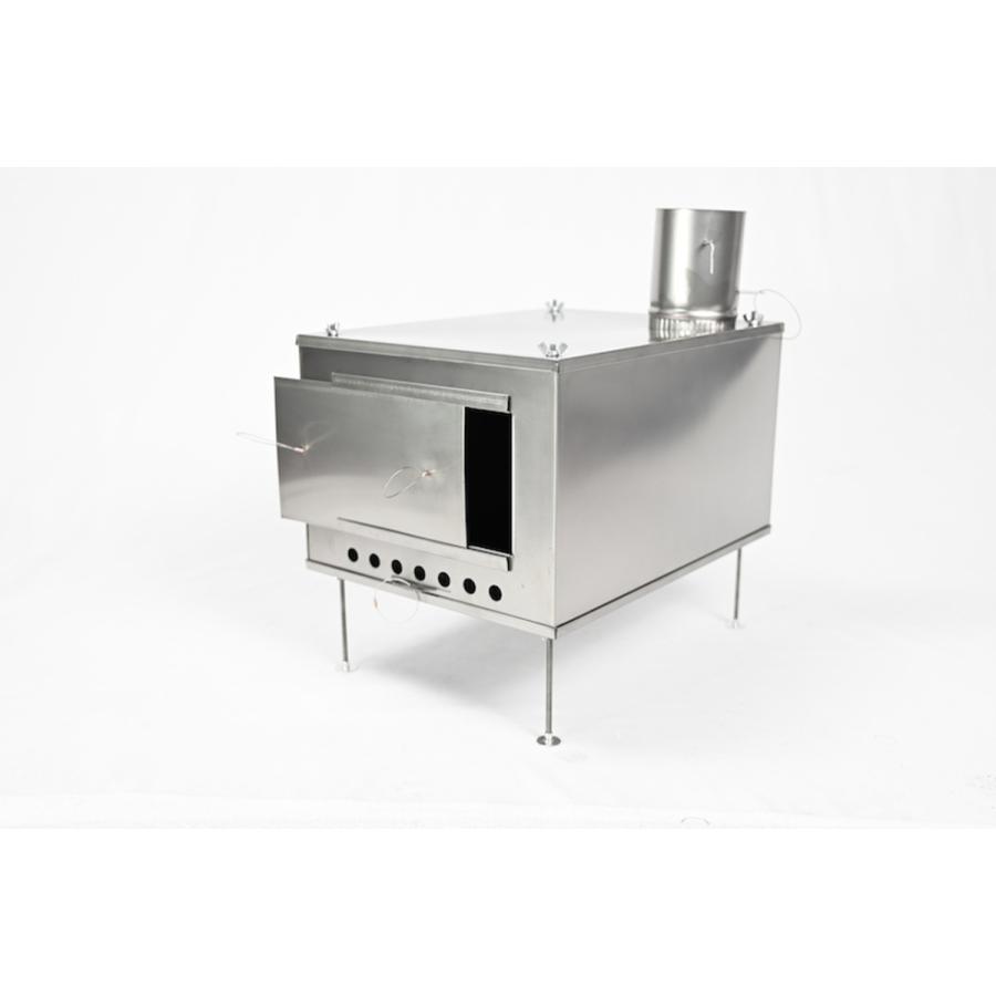 薪ストーブ ポータブルチタンストーブ SXLサイズ サイドプレート付き Portable Titanium Wood Stove SXL Seek Outside|trente-trois|02
