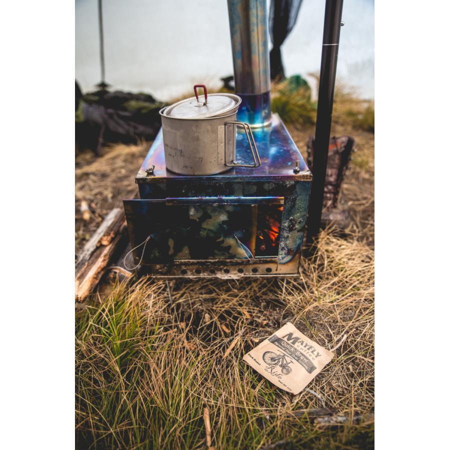 薪ストーブ ポータブルチタンストーブ SXLサイズ サイドプレート付き Portable Titanium Wood Stove SXL Seek Outside|trente-trois|11