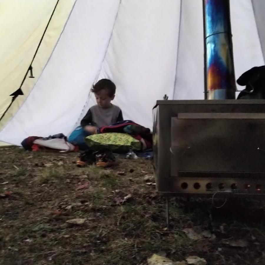 薪ストーブ ポータブルチタンストーブ SXLサイズ サイドプレート付き Portable Titanium Wood Stove SXL Seek Outside|trente-trois|12