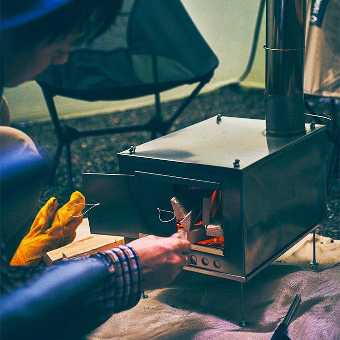 薪ストーブ ポータブルチタンストーブ SXLサイズ サイドプレート付き Portable Titanium Wood Stove SXL Seek Outside|trente-trois|04