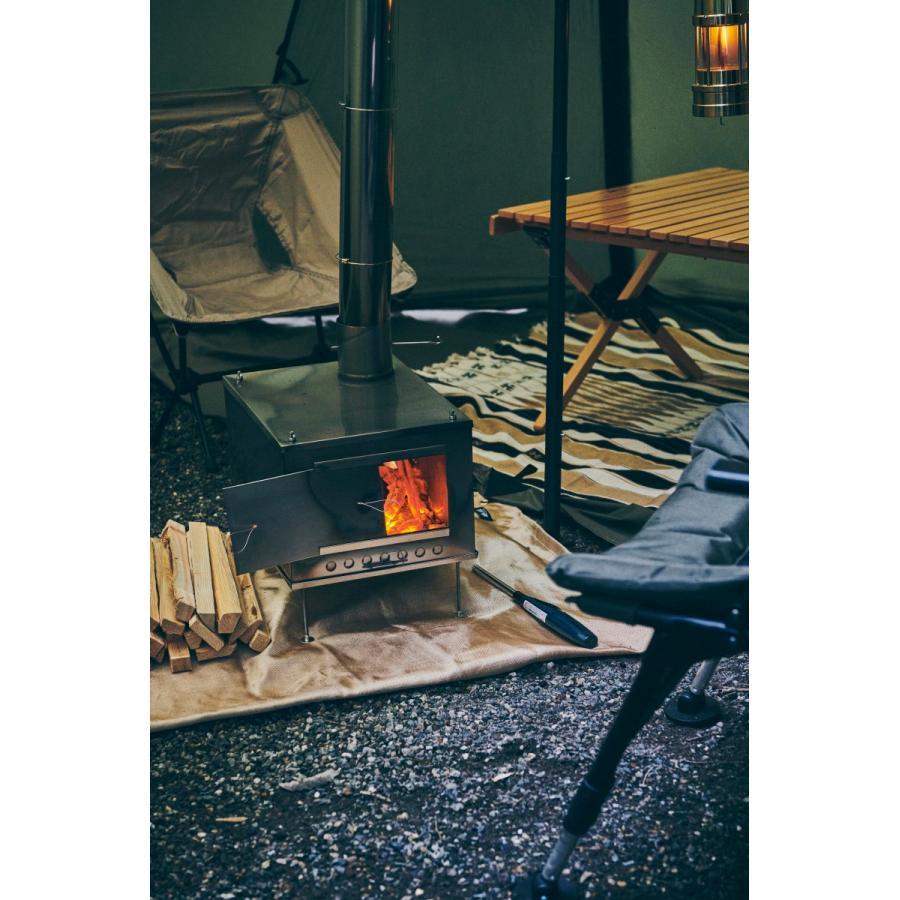 薪ストーブ ポータブルチタンストーブ SXLサイズ サイドプレート付き Portable Titanium Wood Stove SXL Seek Outside|trente-trois|06