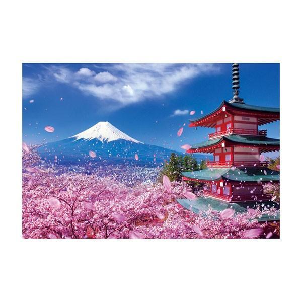 ジグソーパズル 1000ピース 風景 富士と桜舞う浅間神社 51-226 代引き不可