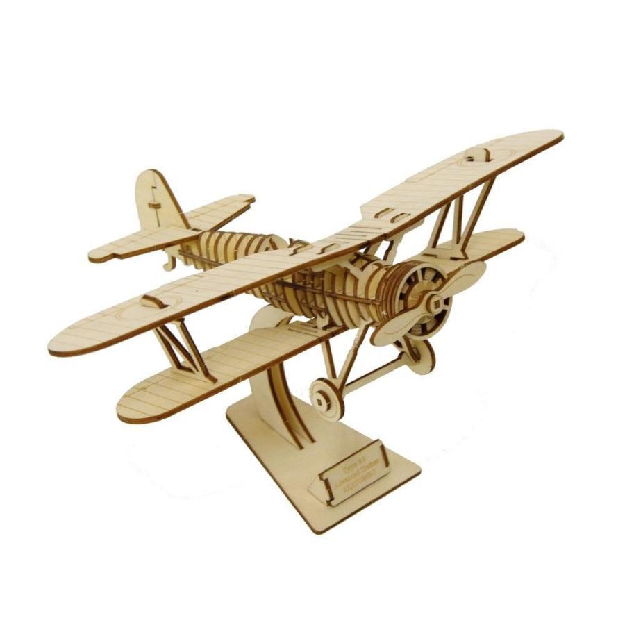 Wooden Art ki-gu-mi 複葉機 代引き不可