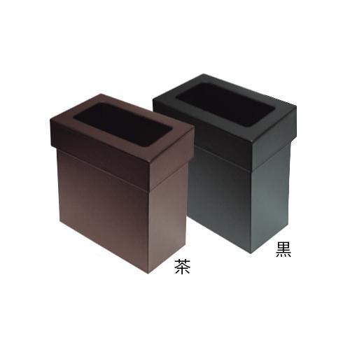 合皮製 合皮製 合皮製 ダストボックス 蓋付 DB-201 茶 代引き不可 9d0