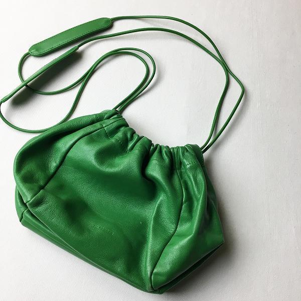 【 新品 】 JIL SANDER ジルサンダー DRAWSTRING SM ショルダーバッグ/グリーン 緑 鞄 BAG カバン 2400011555908, 訳あり高級食材「グルメの王様」 5b4232ed