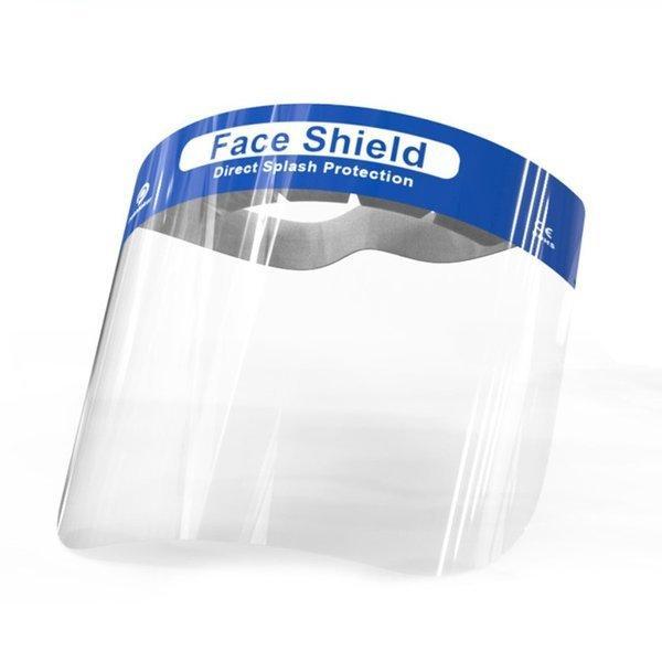 フェイスシールド 1枚 飛沫防止 当日出荷 フェイスガード 組立済 コロナ ウイルス対策 防災面 クリア 軽量 防塵 プラスチック製 透明 送料無料|trideacoltd|02