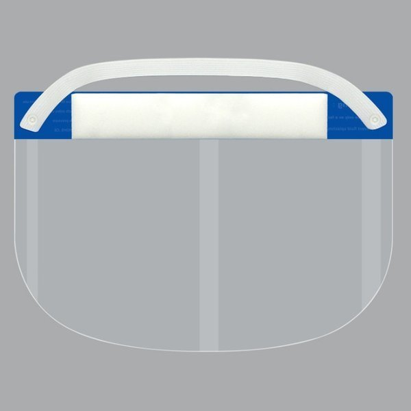 フェイスシールド 1枚 飛沫防止 当日出荷 フェイスガード 組立済 コロナ ウイルス対策 防災面 クリア 軽量 防塵 プラスチック製 透明 送料無料|trideacoltd|05