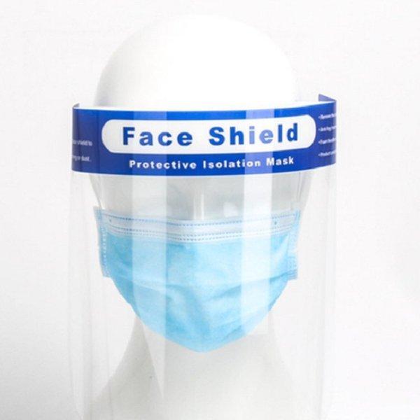フェイスシールド 1枚 飛沫防止 当日出荷 フェイスガード 組立済 コロナ ウイルス対策 防災面 クリア 軽量 防塵 プラスチック製 透明 送料無料|trideacoltd|06