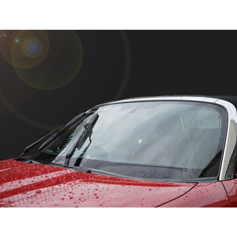 エアロワイパー Ver2 U型フック ワイパーブレード フロント2本SET ワイパー替えゴム 高品質 純正交換 梅雨対策|tristars|07