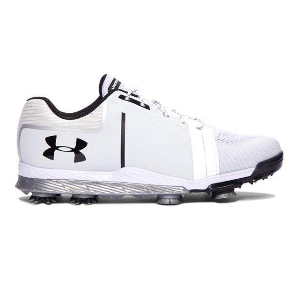 アンダーアーマー メンズ Under Armour Tempo Sport Golf Shose ゴルフシューズ 白い / Metallic 銀