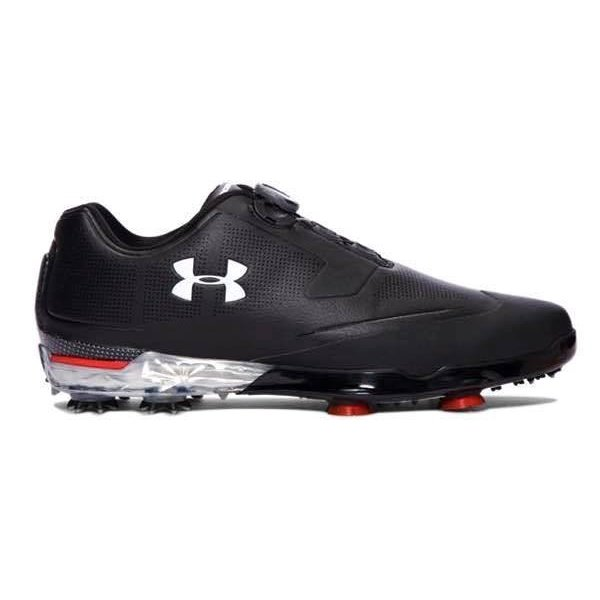 アンダーアーマー メンズ ゴルフシューズ Under Armour Tour Tips BOA Golf Shoes ツアーチップス ボア 黒 / 赤