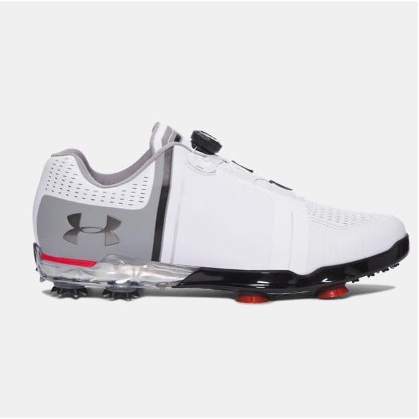 アンダーアーマー メンズ スピース1 Under Armour Spieth One BOA Golf Shoes ゴルフシューズ 白い/Steel/Navy ボア
