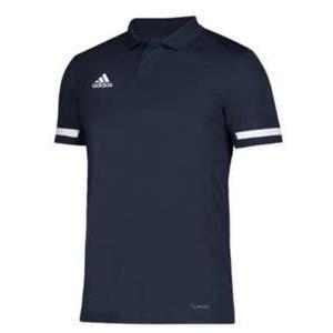 アディダス メンズ ポロシャツ adidas Team 19 Polo ゴルフ ロゴ 半袖 Team Navy/白い